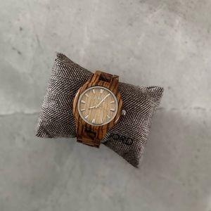 Jord Fieldcrest Zebrawood&Maple Natural Wood Watch
